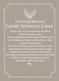 funeral invitation template 39 best funeral reception invitations lives on memorial