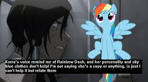 Legend Of Korra Memes - 533353 korra meme pony confession rainbow dash safe the