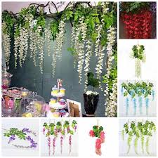 wedding backdrop garland 12 wisteria hanging flowers garland for wedding backdrops