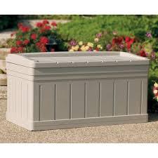 suncast deluxe 129 gallon resin deck box u0026 reviews wayfair