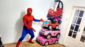 frozen power wheels sleigh 5 awesome ride on cars stacked on top spiderman surprise power