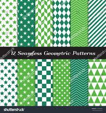 emerald green geometric seamless patterns st stock vector