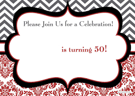 free 50th birthday party invitations wording u2013 bagvania free