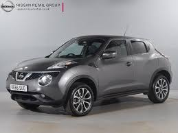 nissan grey used nissan for sale juke 1 6 tekna xtronic grey nissan london