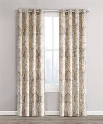 Echo Design Curtains Jaipur Print Window Panels Taupe Echo Design