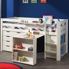Schreibtisch 90 Cm Hochbett Spielbett Pinoo 12 Mit Schreibtisch Regal Und