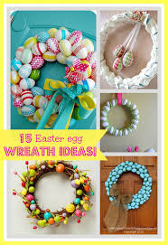 how to make an easter egg wreath 15 easter egg wreath ideas
