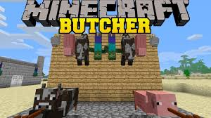 minecraft butcher mod put animals on meat hooks cook over fires