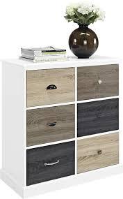 amazon com altra mercer 6 door storage cabinet with multicolored