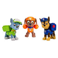 paw patrol 6024061 action pups 3 pack figure chase rocky