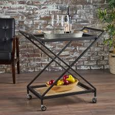 industrial iron wood kitchen trolley natural black buy kitchen kitchen dining accessories noble house furniture