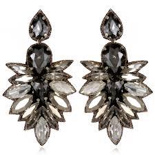 black drop earrings cuzco drop earrings black diamond beaded lightweight
