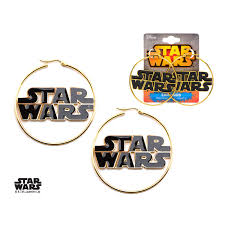 wars earrings wars gold pvd plated enamel wars logo hoop earrings