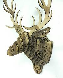 deer wood wall oh deer god laser cut wood deer wall by danschaubdesigns
