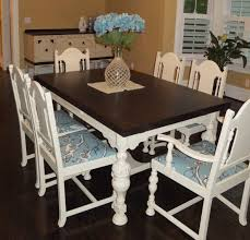 Paint Dining Room Chairs dining room table and chair set in java gel stain and linen milk