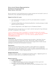 Sample Resume For Insurance Agent Sample Of Entry Level Insurance Agent Resume Augustais