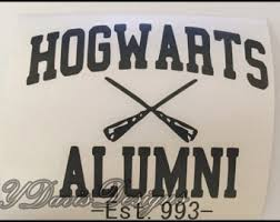 hogwarts alumni bumper sticker hogwarts alumni etsy