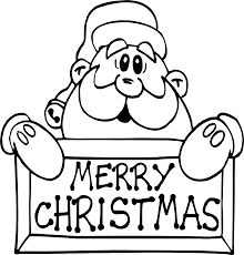 santa claus merry christmas colouring pages kids aimed