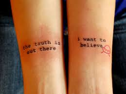 i word tattoos but this is amazing x files tattoos