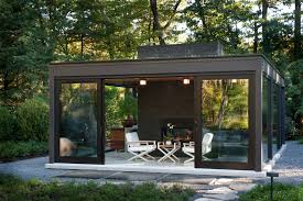 Outdoor Glass Room - boston modern home patio modern with galvanized metal glass