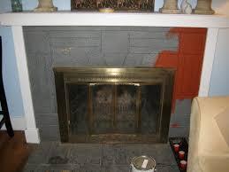 painted brick fireplace marvelous black n n fiery all over hip