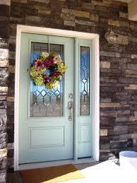palladian blue benjamin moore a painted front door the wood grain cottage