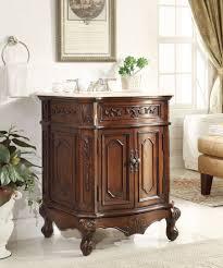 Bathroom Vanity Wood by Adelina 27 Inch Antique Bathroom Vanity Lush Wood Finish
