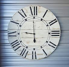 22in u201criley u201d reclaimed wood wall clock fixer upper style clock