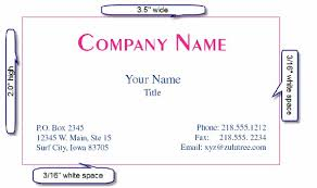 Default Size Of Business Card Average Size Of Business Cards The Ultimate Design Guide To