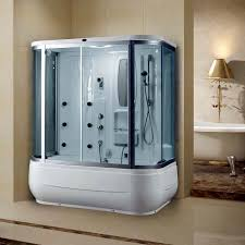 steam shower cubicle glass rectangular with sliding door