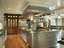 stainless steel island for kitchen a chef u0027s dream kitchen professional chef kitchen design and hgtv