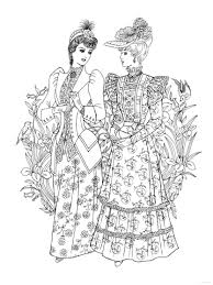holly hobbie coloring pages creative haven art nouveau fashions coloring book historical
