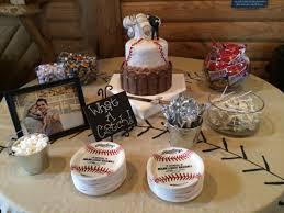 baseball wedding table decorations groom s cake i made and the table decorations baseball theme my