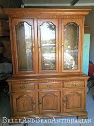 belle u0026 beau antiquarian distressed white china cabinet with