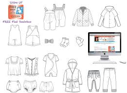 where to find the best kids illustrator flat fashion sketch templates