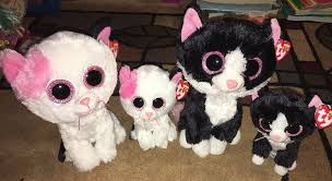 ty beanie boo kitty cats pepper muffin lot 9 6 black white