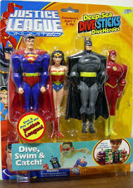 justice league unlimited justice league unlimited deep sea dive sticks diveheroes 4 pack