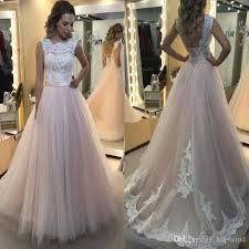 blush wedding dress blush wedding dresses 2017 lace top a line tulle bridal
