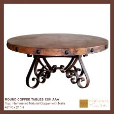 Copper Side Table Coffee Tables Round Copper Top Coffee Table Oval Copper Coffee