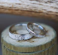 matching rings rainier matching set of single channel antler rings available