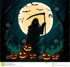 death row spirit halloween spirit of death holding the spooky pumpking stock photos image
