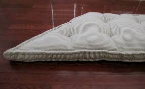 Cushion For Bench Seat Custom Trapezoid Window Cushion French Mattress Cushion Tufted Blue