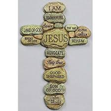 amazon com names of jesus 11 inch bronze resin wall