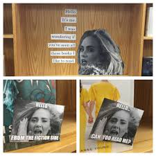 adele book display library