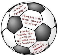 custom soccer ball birthday party invitation ebay