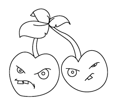 plants zombies coloring pages cherry bomb plants zombies
