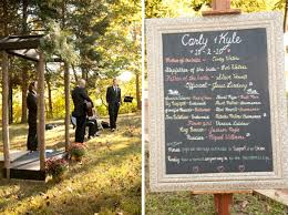 chalkboard wedding program template kyle s gorgeously green vegan wedding the