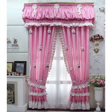 White With Pink Polka Dot Curtains Best Pink Print Cartoon Bear Ruffled Polka Dot Curtains