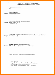 Example Resume For College Application by 4 College Applicant Resume Template Sick Leave Letter