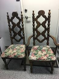 1960 u0027s ornate spanish dining chairs what color should i paint and wha